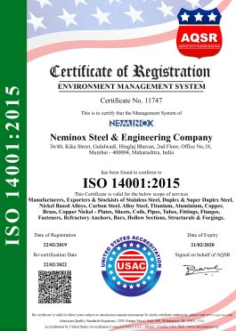 Environment Management System -ISO Certificate