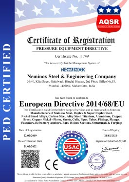 Pressure Equipment Directive Certificate